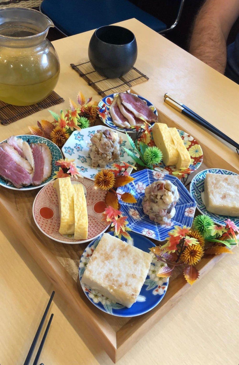 Traditional Japanese lunch at Terakawa in Nara, Japan.