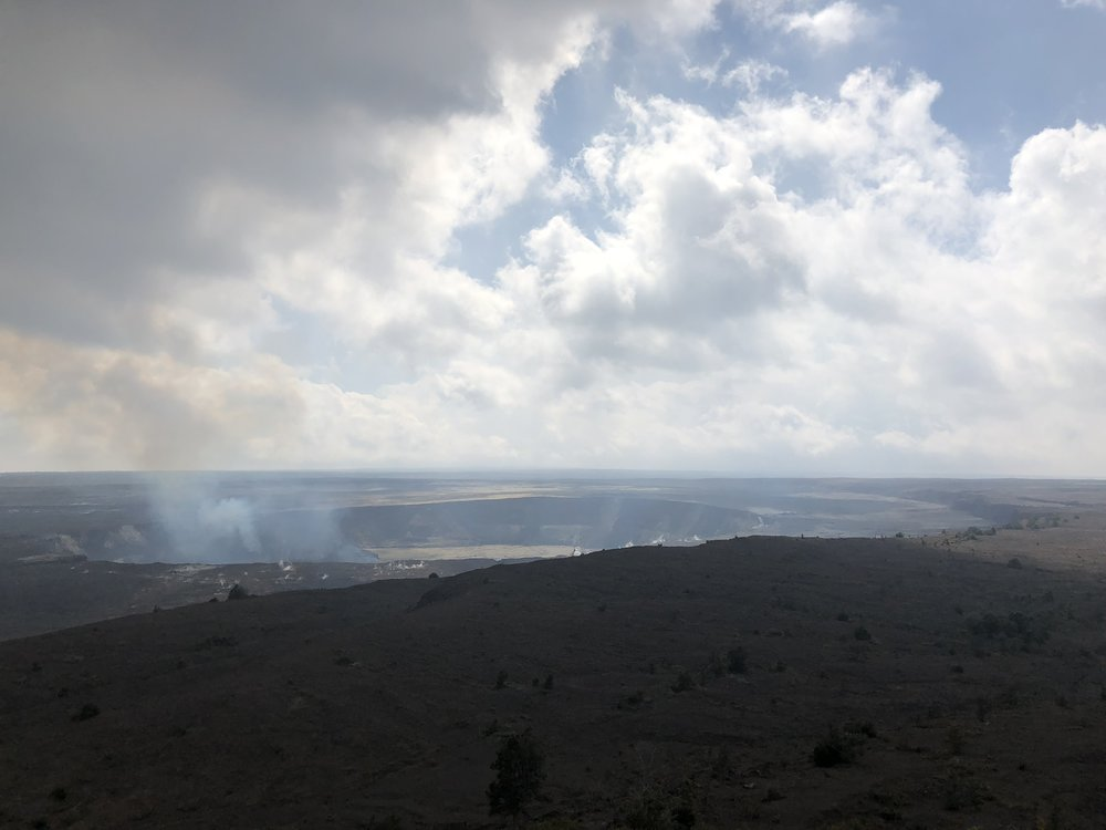 Kilauea crater from lookout point