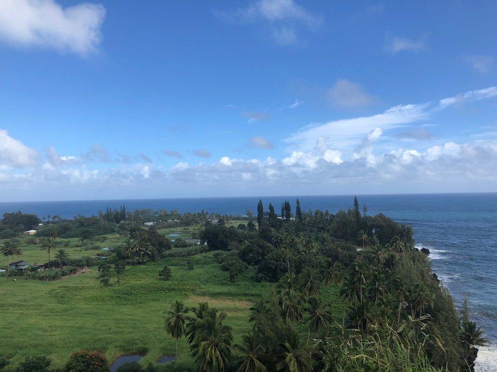 View of Keanae peninsula on the road to Hana, Maui.
