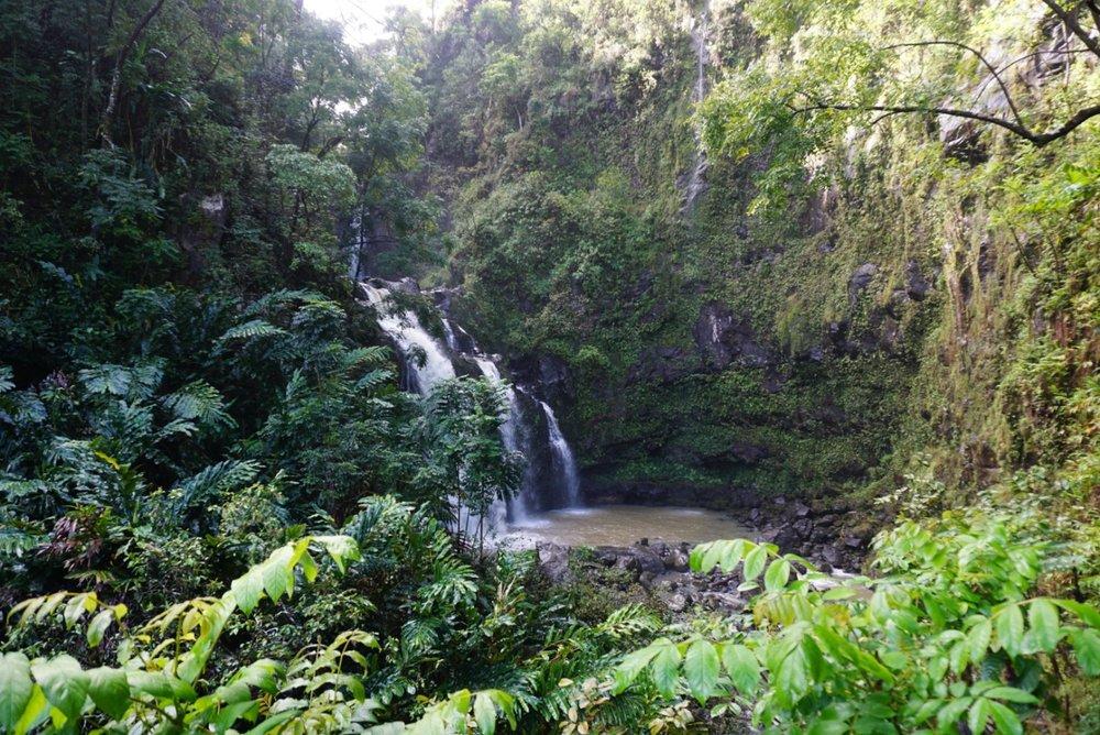 waterfall off of the road to Hana, Maui. boldlygotravel.com