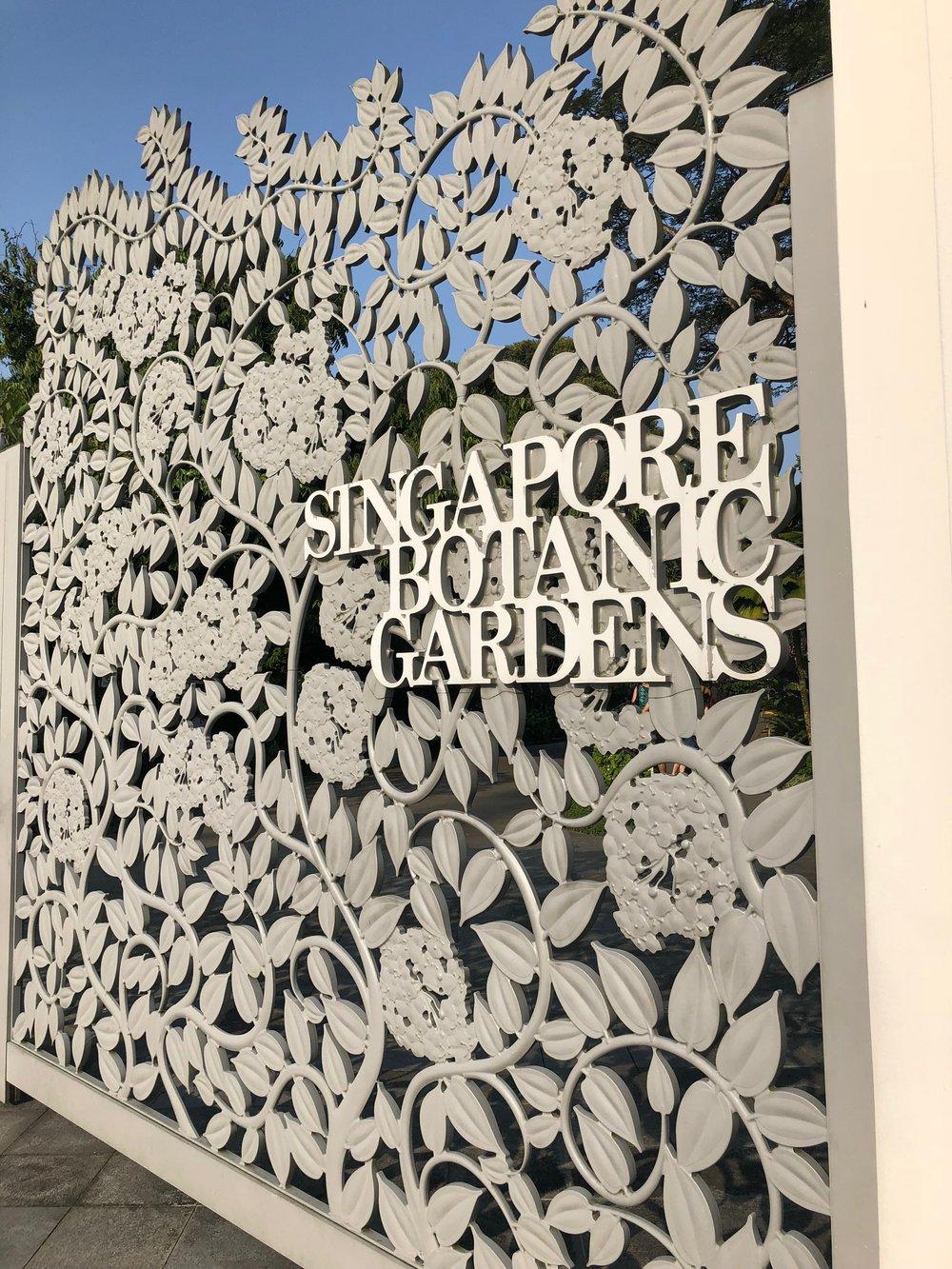 Entrance to the Singapore Botanic Gardens. boldlygotravel.com
