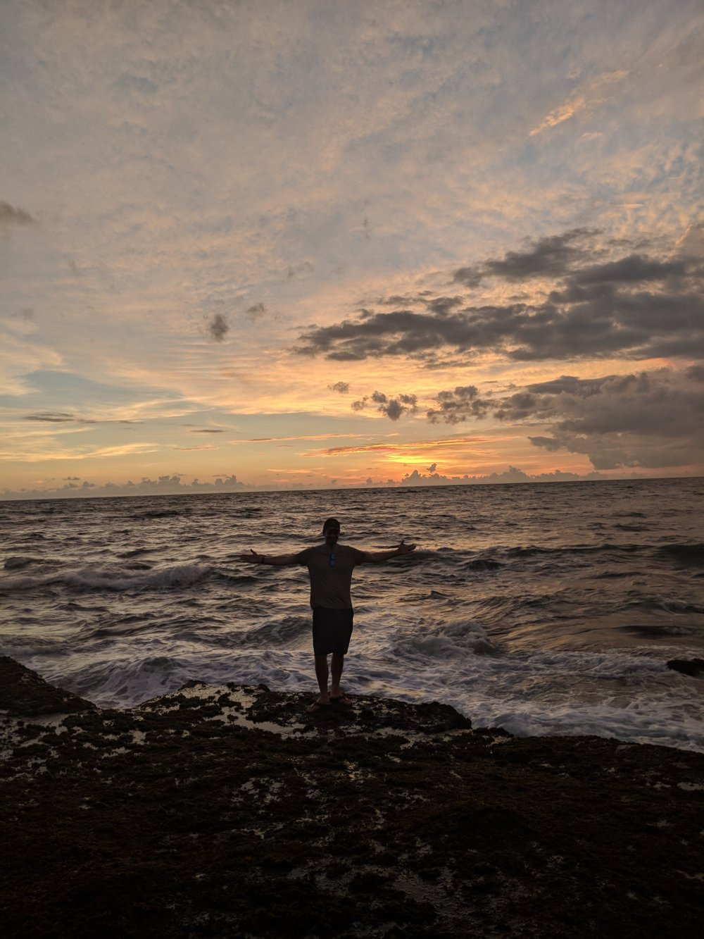 Matt at Sunset at Tanah Lot. boldlygotravel.com