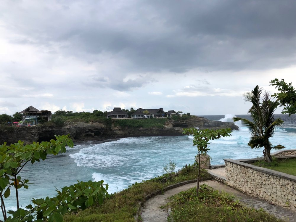 View from bungalow at Cliff Park in Nusa Lembongan, Indonesia. boldlygotravel.com