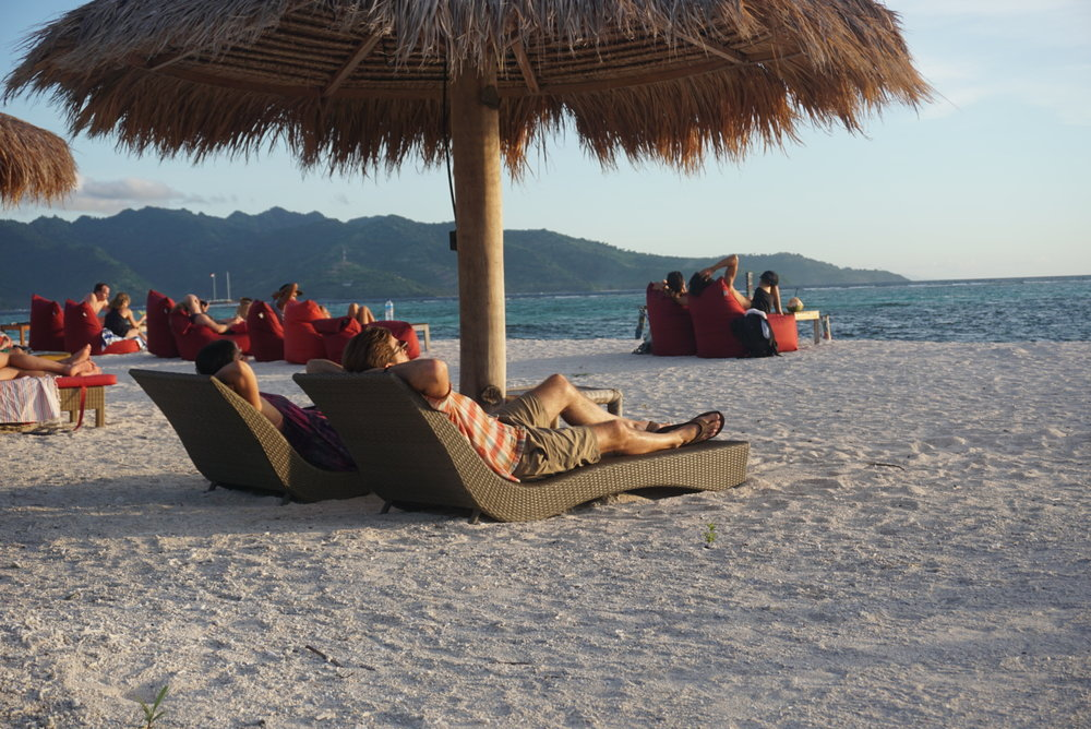 relaxing on the beaches of Gili Air, Indonesia. Boldlygotravel.com