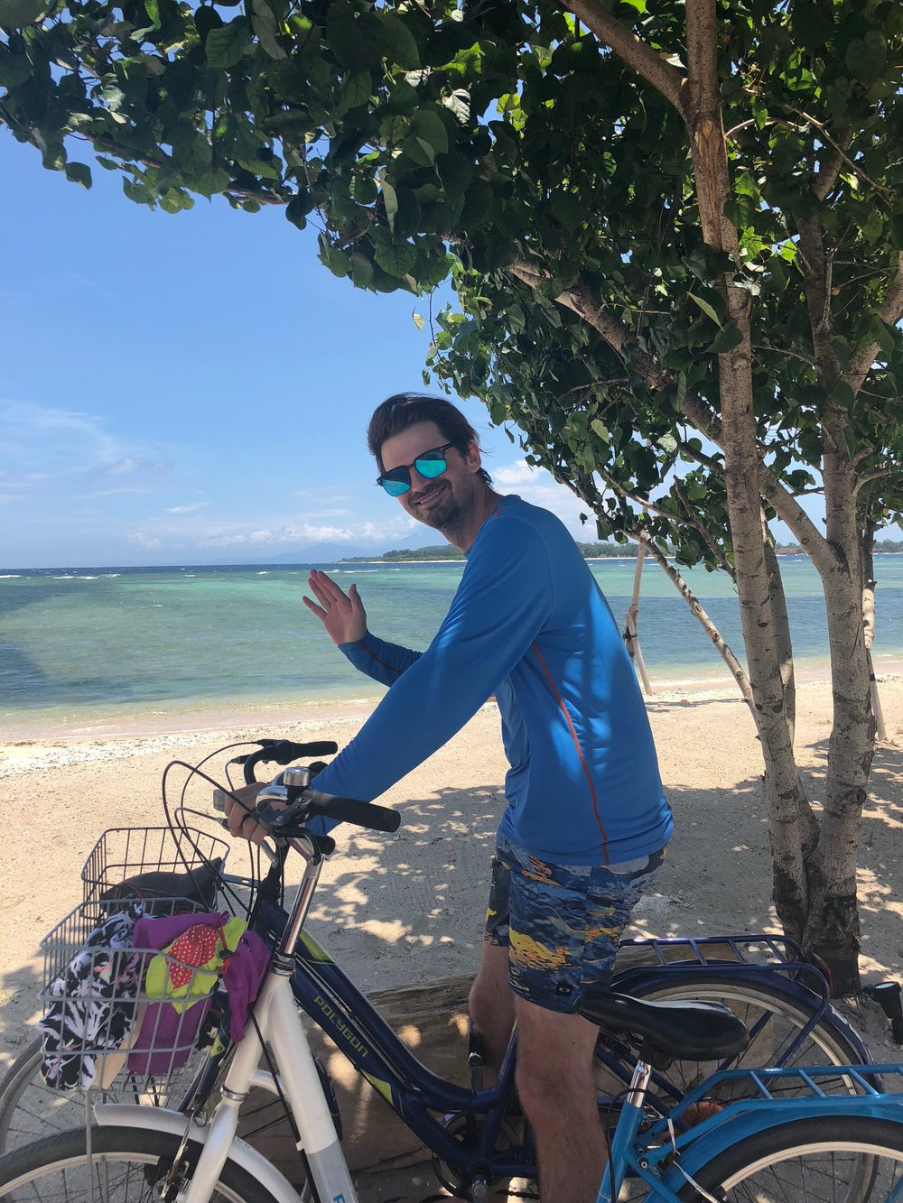 Matt beach biking