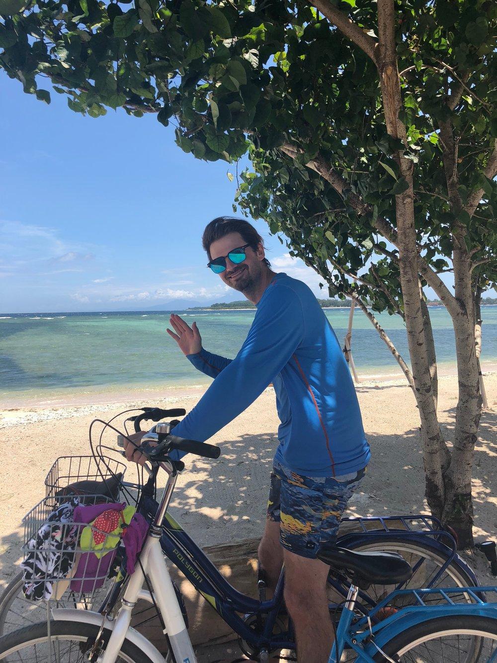 Matt beach biking