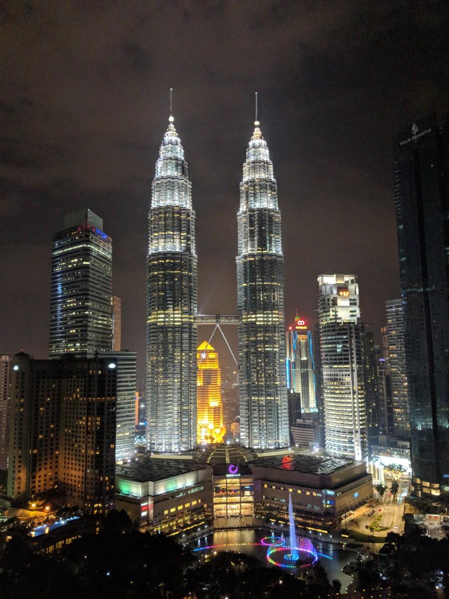 Petronas Towers at night. boldlygotravel.com