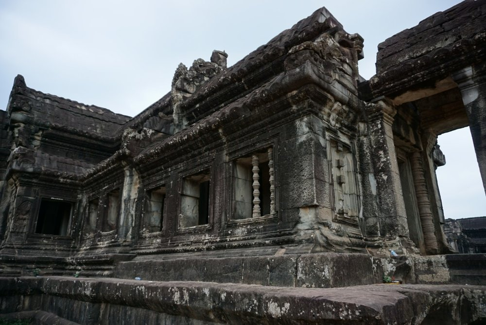 one of the many hallways of Angkor Wat ruins, Cambodia. boldlygotravel.com