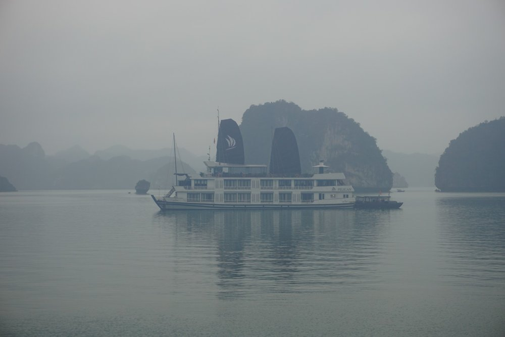 Our boat that we took out to Ha Long Bay in Vietnam. boldlygotravel.com