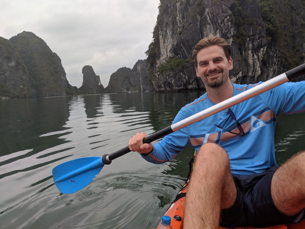Matt Kayaking Ha Long Bay