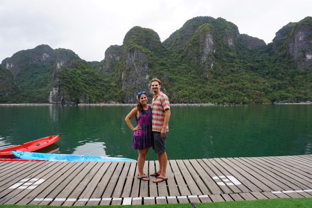M and K at Halong.jpg