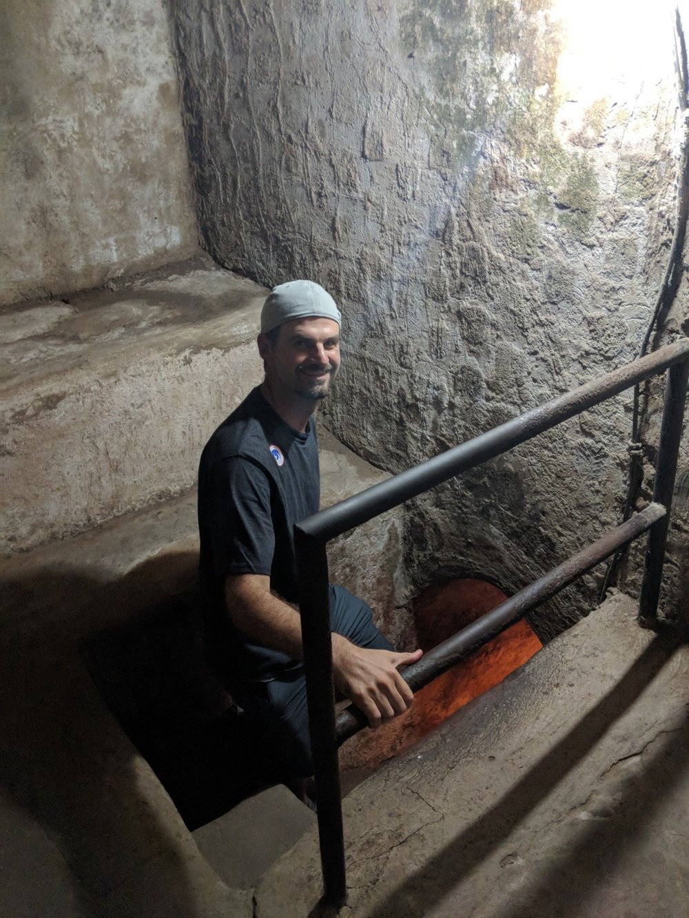 Matt at the Chi Ci Tunnels in Saigon, Vietnam. Boldlygotravel.com