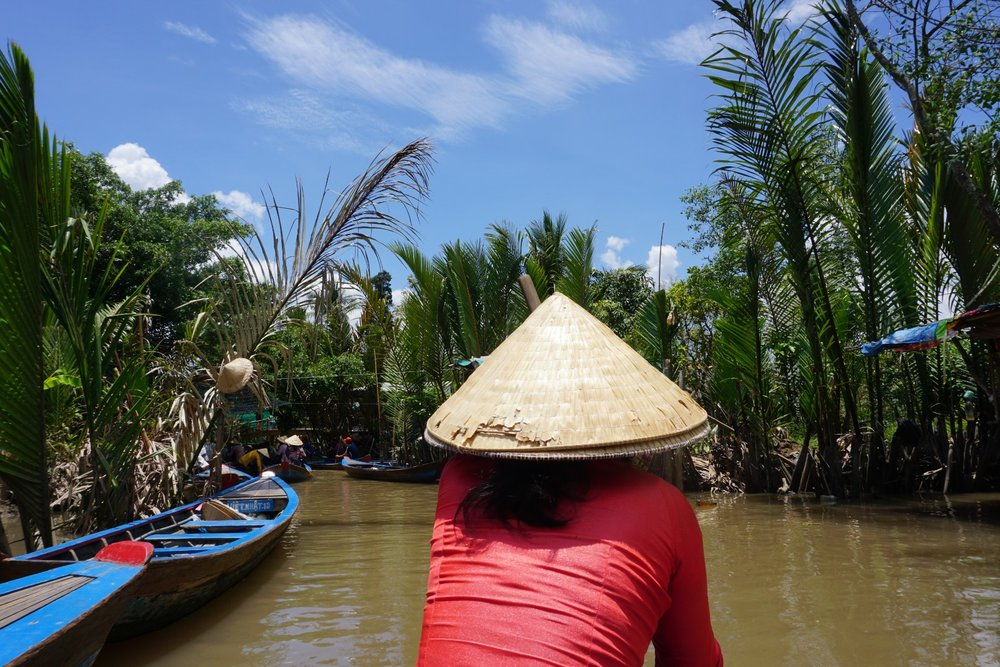 Traditional scene of the Mekong River in Vietnam. boldlygotravel.com