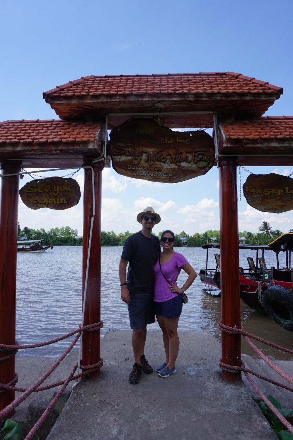 Kelly and Matt at Mekong Village