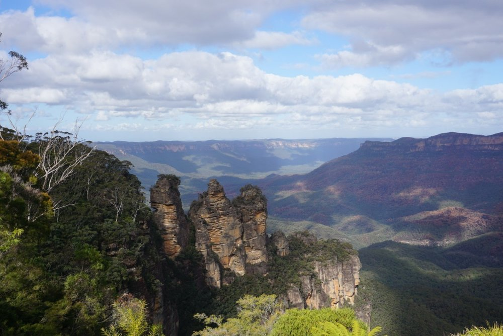 The Three Sisters at the Blue Mountains, Australia. Boldlygotravel.co