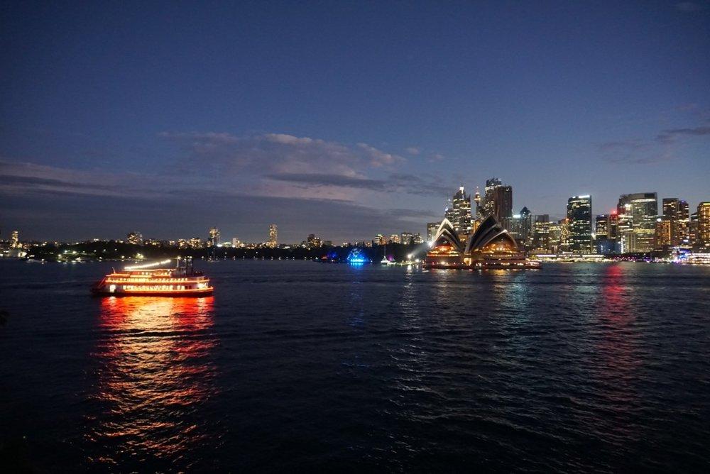 Photo fo Sydney at twilight. boldlygotravel.co