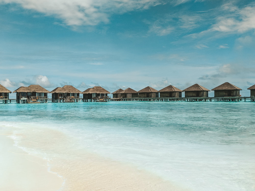 View of the bungalows at Anantara Veli, Maldives. boldlygotravel.co