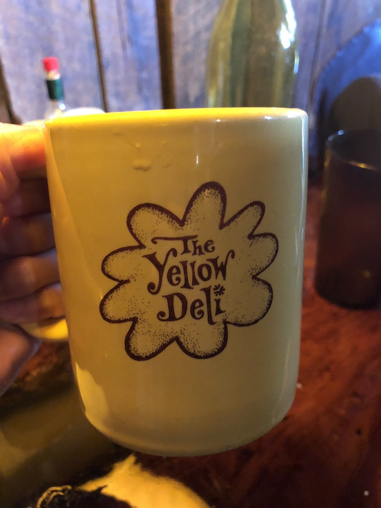the yellow deli mug