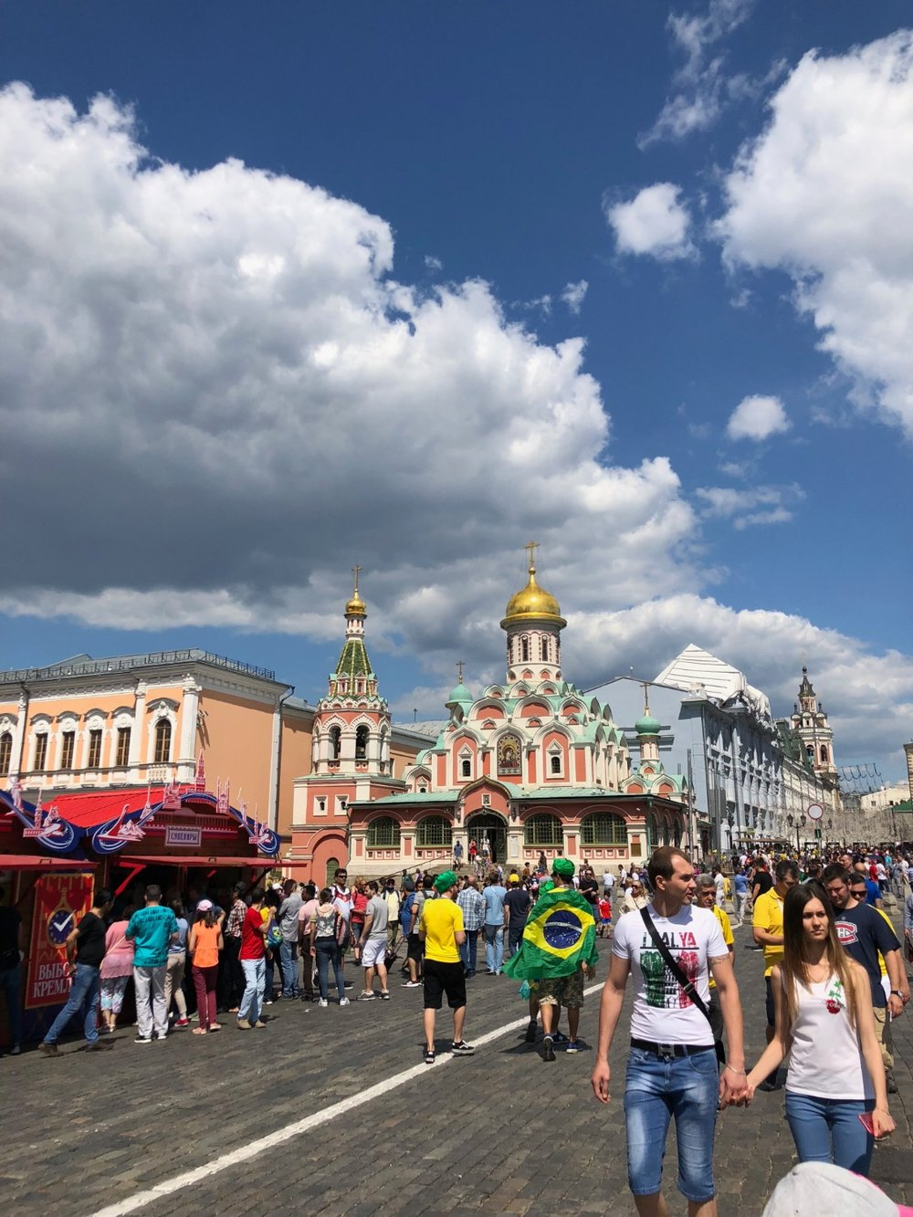 The crowds at the Red Square during the World Cup 2018 in Moscow, Russia. boldlygotravel.com