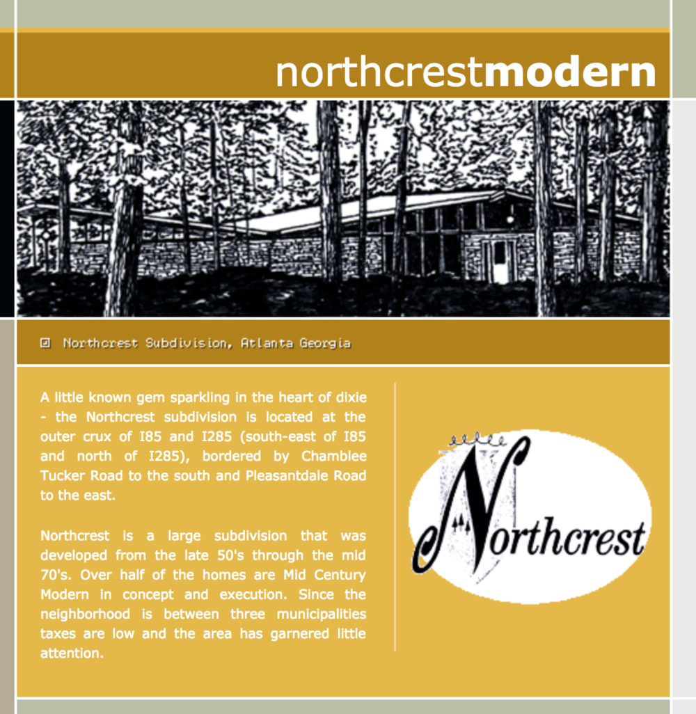 Northcrest Modern - One of the defining features of Northcrest Historic District is its beautiful mid-century modern architecture. Learn more about the history of the neighborhood at NorthcrestModern.com