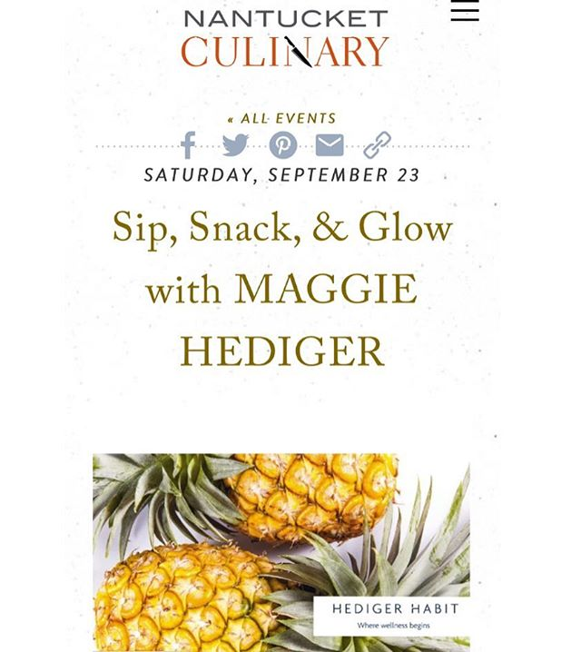 Hold the spray tan. Come eat your way through some simple recipes that keep that summer glow a little longer. We'll be exploring nutrient-dense, radiance boosting snacks + sips 09/23, 11AM- 1PM @nantucket_culinary  Link to tickets in bio  #hedigerhabit #privatechef #healthiswealth #nantucket #skinfood #superfoods