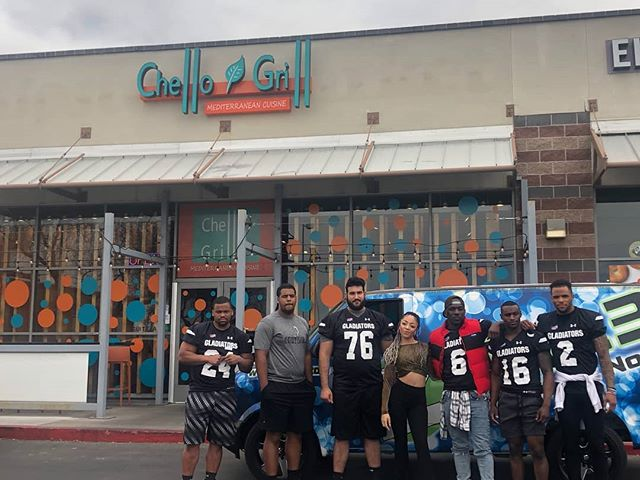 Come to Chello and say hello to the gladiators and z106.3! Giveaways for gladiator tickets and gift certificates to chello Grill are being given out now!