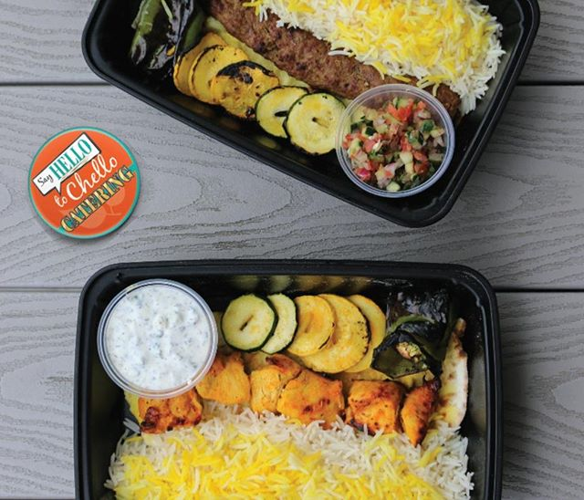 Happy Monday! Daydreaming about lunch already? #SayHelloToChello⠀ Have a large party or want to order in for the office? Try our catering options, like box lunches!⠀ .⠀ .⠀ .⠀ #yournewlunchspot #maybedinnertoo #abq #freshfastfood #eatlocal #newmexico #newmexicotrue #nmtrue #foodie #food #yummy #chicken #chickenkabob #greenchile #chile #tomato #grilledtomatoes #koobideh #saffron #sumac #mastokhiar #tzatziki #catering #thingstodoabq #shirazi #cityofABQ #productive
