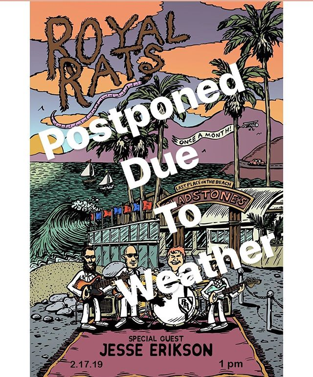 Sorry to say show is postponed due to weather