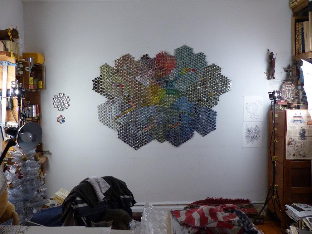 Studio wall, 2014