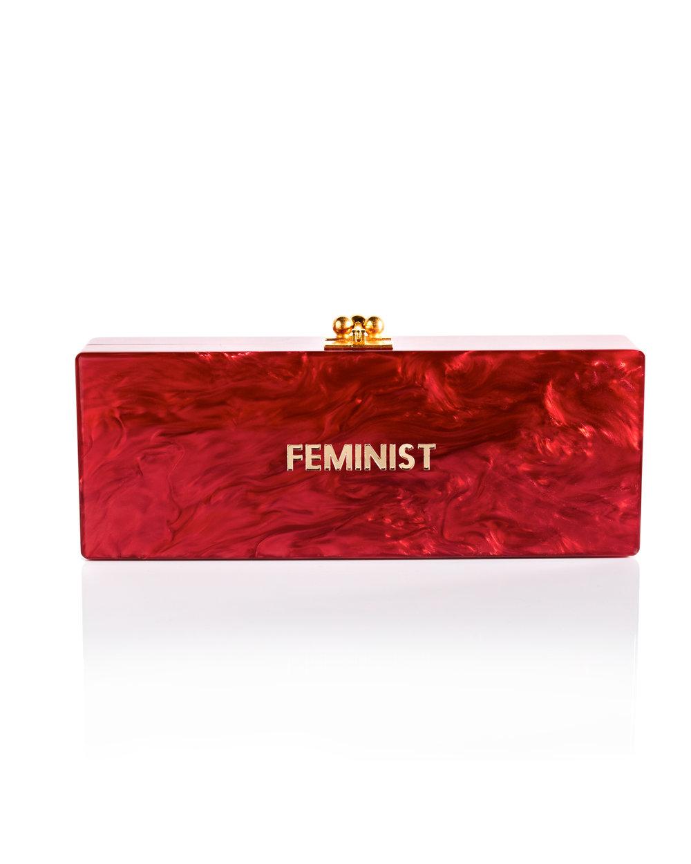 Edie Parker – Feminist Clutch Red
