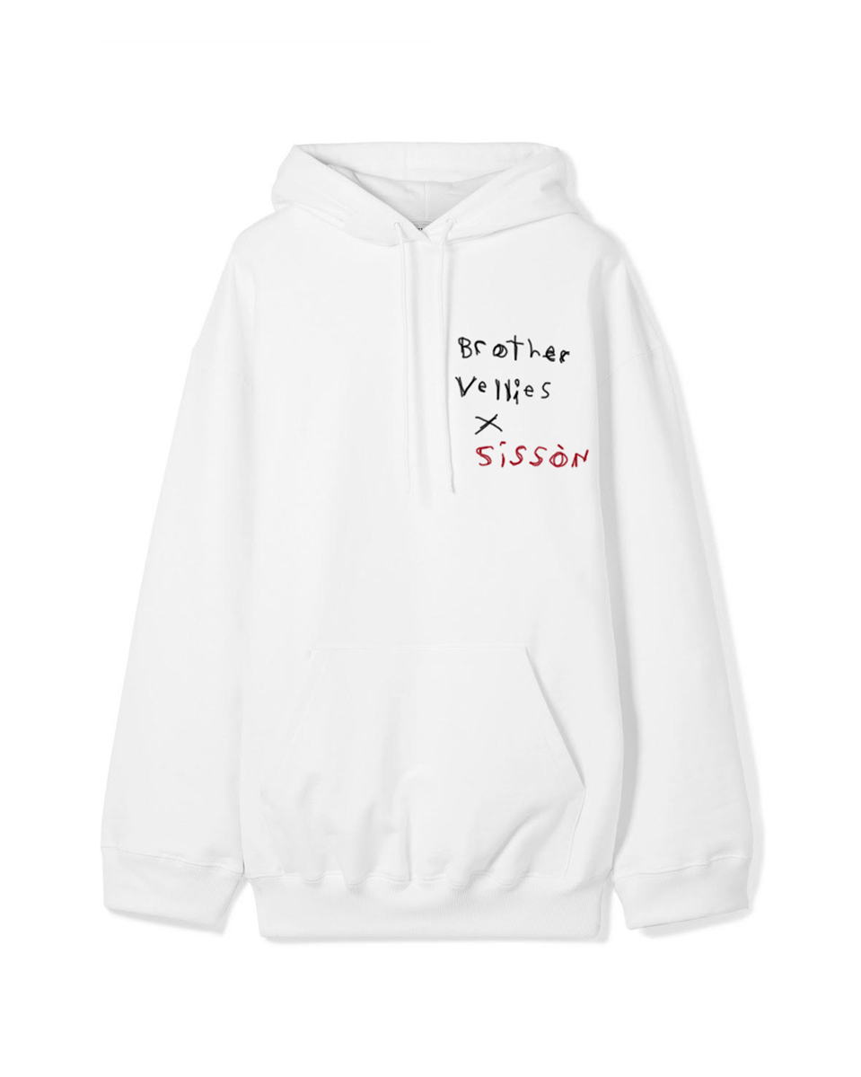 Brother Vellies - Hoodie, White
