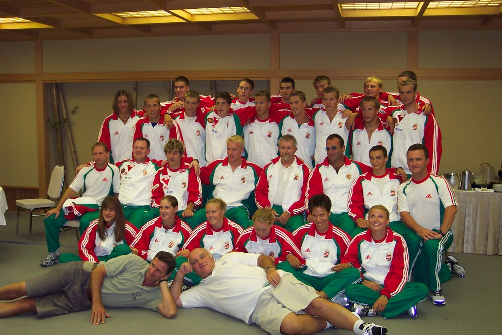 2003, Japan: Hungarian junior WCh team