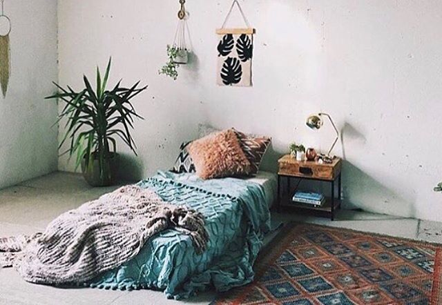 Sunday Inspiration ✨ Who says you need a bed?  I am all for mattresses on the floor with some killer draping.  Add a plant in the corner and a bomb ass rug and you've got yourself quite the cozy set up.  Enjoy loves! • Photo Credit: somewhere on the World Wide Web that has been in my phones inspiration folder for years. . . . . #thefunkyloft #sharemystyle #airbnbphoto #uohome #anthrohome #airbnbexperience #bohochic #flashesofdelight #airbnb #apartmenttherapy #airbnbsuperhost #host #bohodecor #airbnblife #interiordesigner #designblogger #howyouhome #airbnbguide #loftstyle #airbnbguest #myeclecticmix #bohemiandecor #thenewbohemians #hometohave #howwedwell #pocketofmyhome #theeverygirlathome #airbnbhost #airbnbtips #airbnbphoto