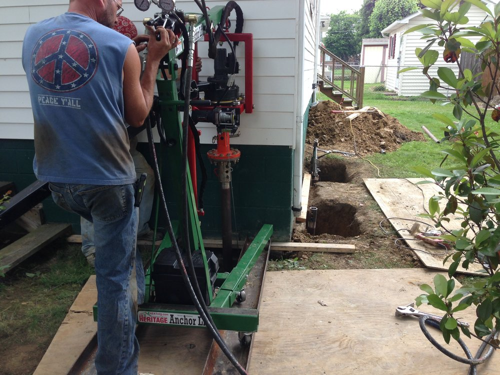 Cracked footer foundation repair