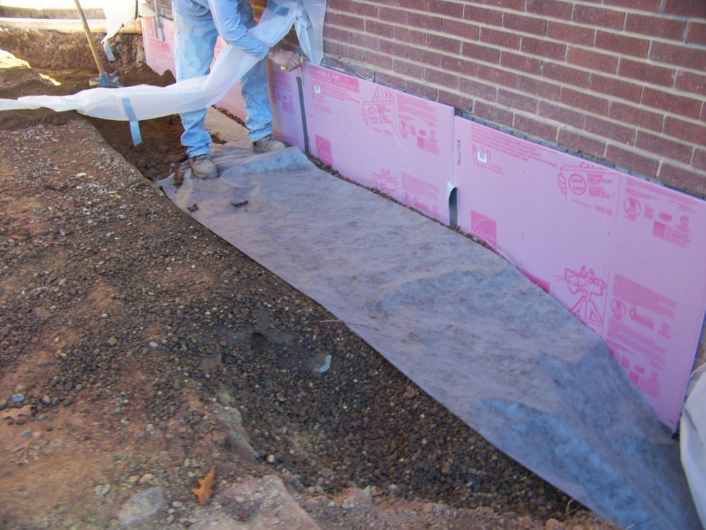 Outside waterproofing