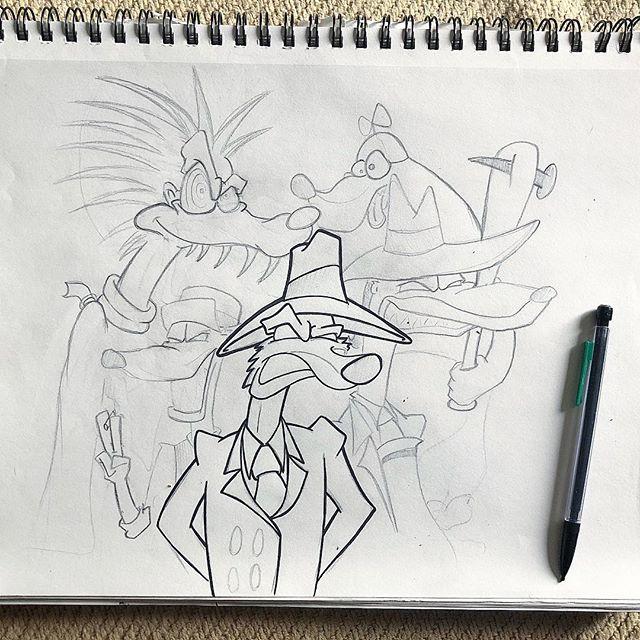 Started reworking an old #toonpatrol sketch 🐰🛢 .  #whoframedrogerrabbit #killtherabbit #rogerrabbit