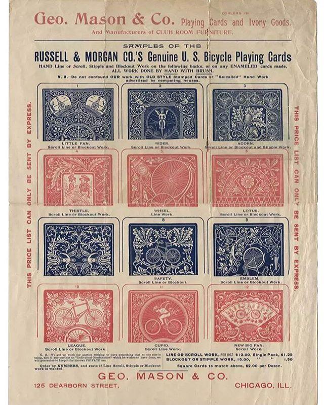 Russell & Morgan Co. sheet with card sample patterns. #vintageadvertising #typehunter #typehunting #thetypehunterco