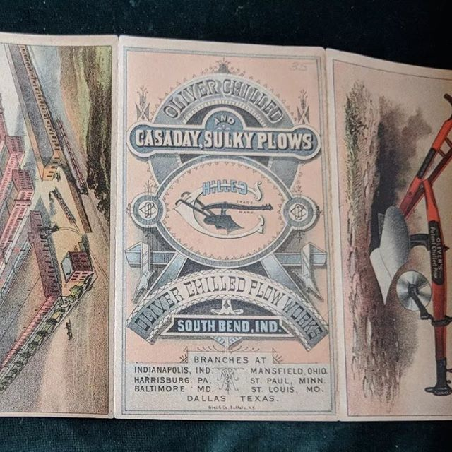 Oliver Chilled Plow brochure with knockout type on the cove.#vintageadvertising #vintageletters #typehunter #typehunting #thetypehunterco