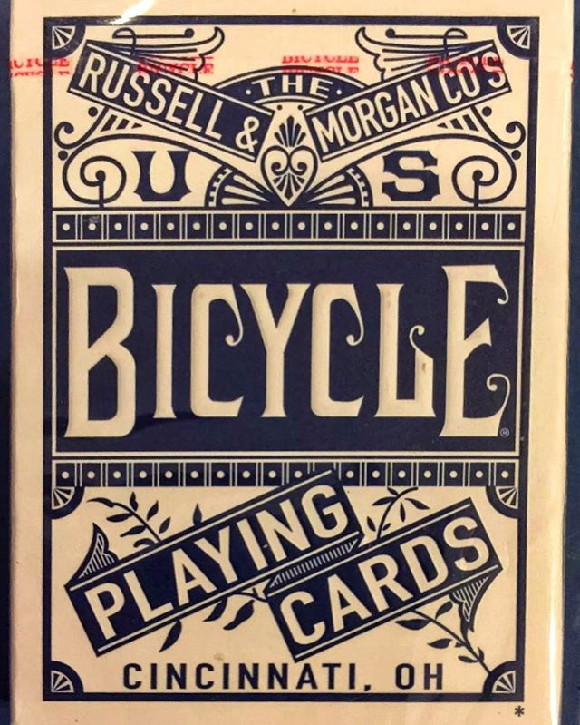 Difficult to improve on the classic Bicycle case from Russell & Morgan Co. #vintageadvertising #vintageletters #typehunter #typehunting #thetypehunterco #ohioquality