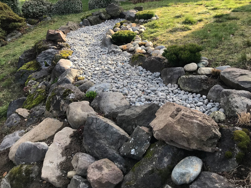 Dry Stream Bed Installation