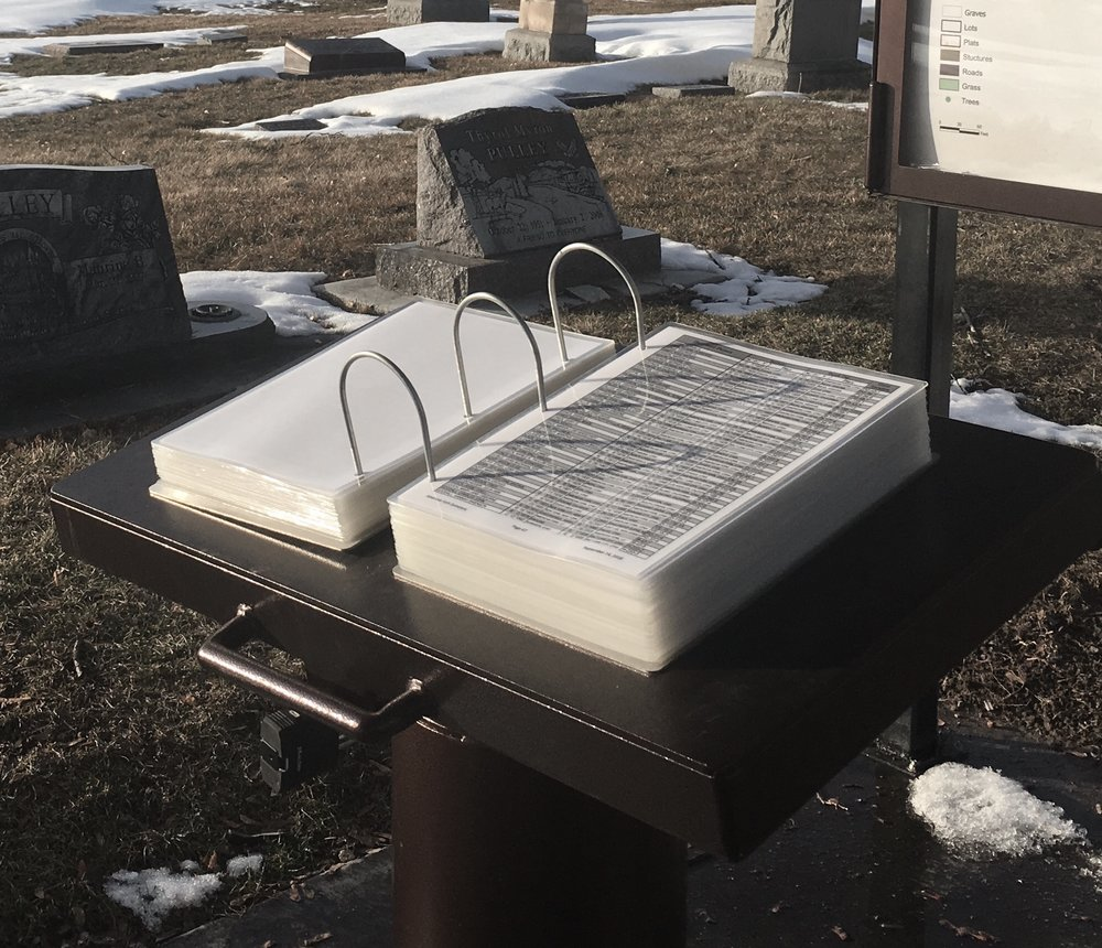 AF CEMETERY NEW BURIAL DIRECTORY.  (PHOTO: D. CRIVELLO)