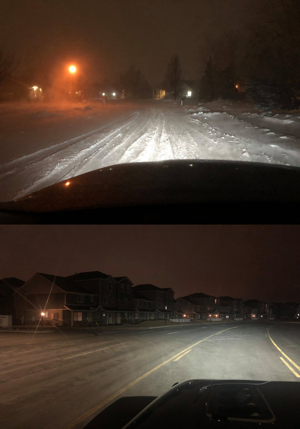 A SPOTTER TAKES PICTURES OF ROAD CONDITIONS IN HIGHLAND AND VINEYARD EARLY MONDAY.  (PHOTO COURTESY ASD)