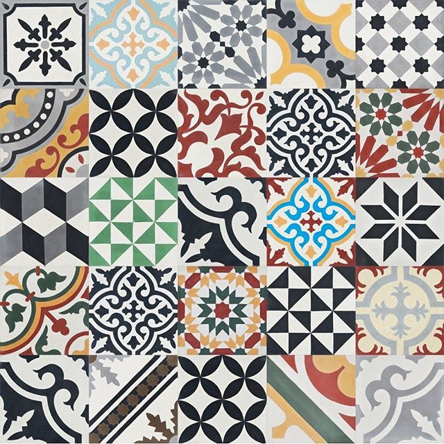 """#TuesdayTrends : One trend that is emerging is the use of cement tiles. These beautiful tiles, that have been around for centuries, are made from a mixture of sand, cement, color pigment, and a marble powder that is poured into molds and then compressed under 2,000 pounds of pressure unlike ceramic tiles are made from clay with a glaze on top and then fired in a kiln. Concrete tiles can be used for indoor and outdoor use since they are more durable than ceramic tiles, especially in high impact areas. Cement tiles are considered a """"green """" tile since they do not require the immense energy required to heat and fire that ceramic tiles require. Cement tiles do require sealing throughout their lifetime since they are prone to damage and etching by harsh cleansers and they also do not do well in freezing temperatures. Which patterns and colors do you like best?"""