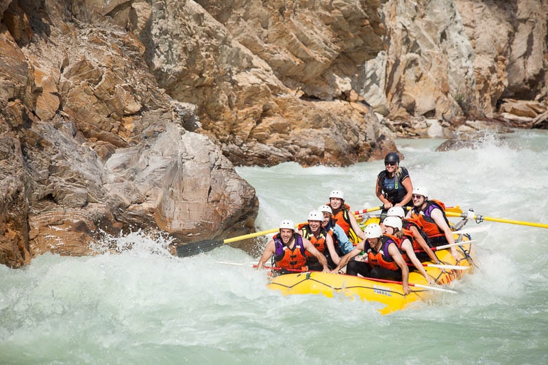 WHITEWATER RAFTING the Kicking Horse River with Glacier Raft Company.  This is an experience we hope everyone gets to experience at least once.  For more information on rafting head to our Raft and Stay page by clicking  HERE