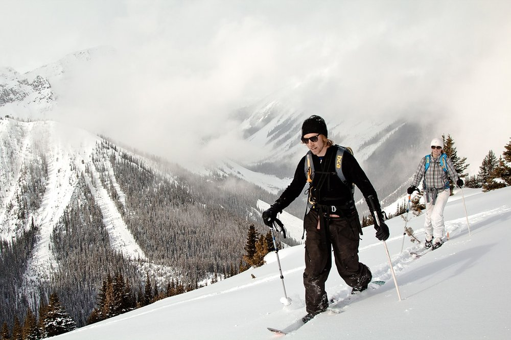 BACKCOUNTRY SKIING  Golden is the gateway to numerous ski touring zones.  Whether you're self propelled or have sled access, so many day trips are accessible from town.