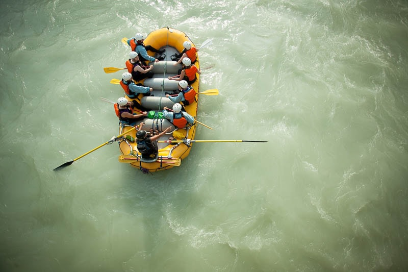 Floating on the Kicking Horse River