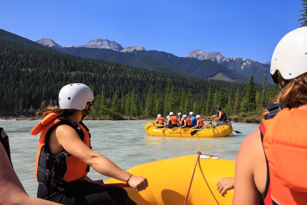 A Beautiful, Sunny Day on the Kicking Horse River