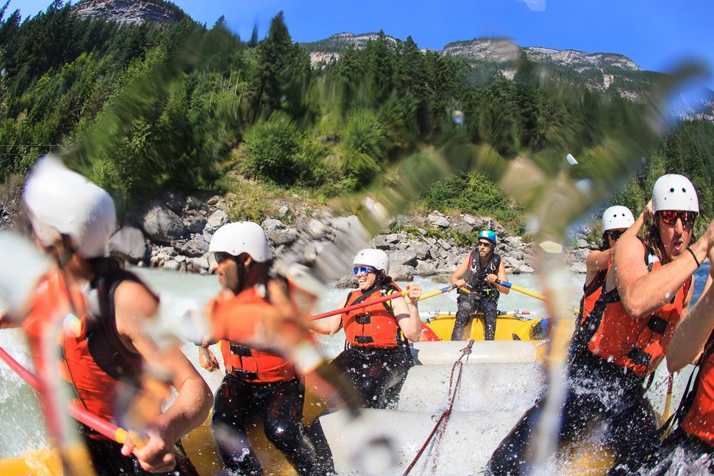 Rafting the Kicking Horse in Golden BC