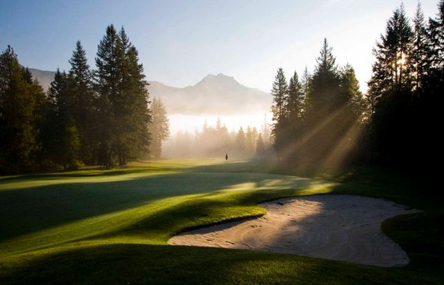 GOLF   The Golden Golf Club is often called a hidden gem. Surrounded by mountains with the Columbia River flowing by - it's not a bad place to spend a day!   Photo: Golden Golf Club.