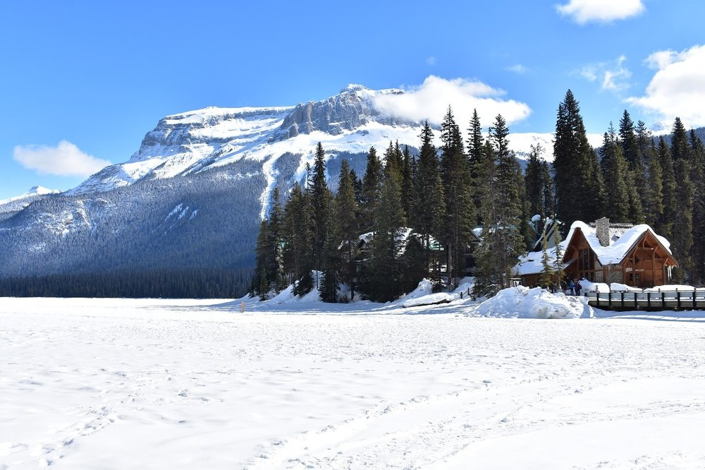 Emerald Lake in the winter